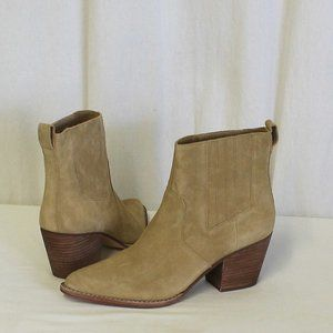 J Crew Western boots in tan suede AC328 New